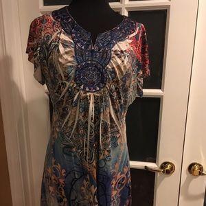 Mosaic Inspired Sublimation Dress